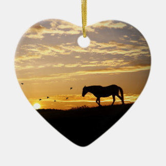 Horse Memorial Heart Ornament