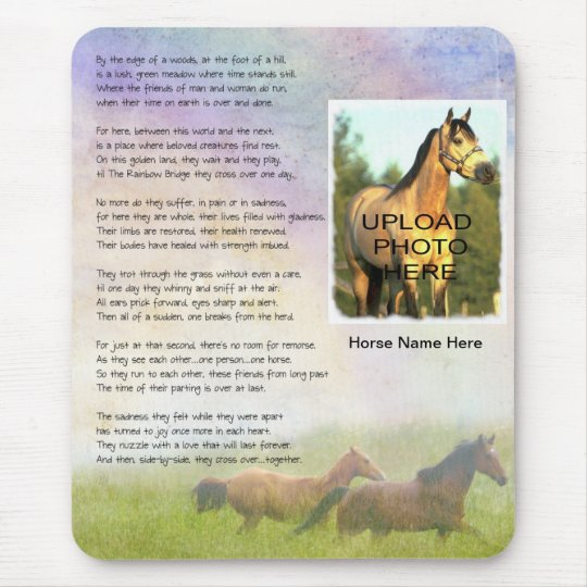 Horse Memorial Rainbow Bridge for Horse Customise Mouse Pad
