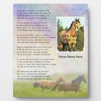 Horse Memorial Rainbow Bridge for Horse Customize Plaque