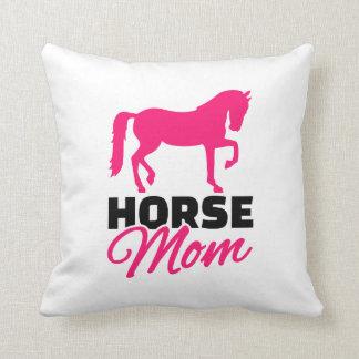 Horse mom throw pillows