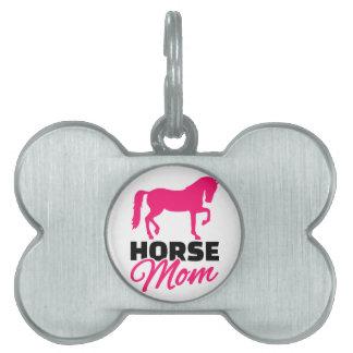 Horse mom pet ID tags