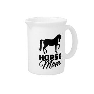 Horse mom beverage pitchers