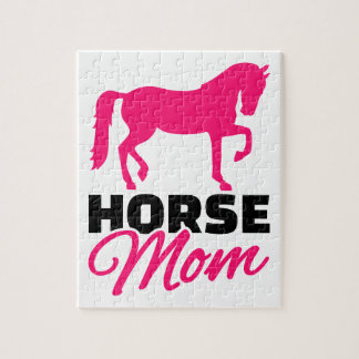 Horse mom jigsaw puzzles