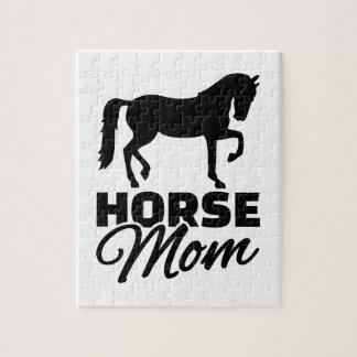 Horse mom jigsaw puzzles