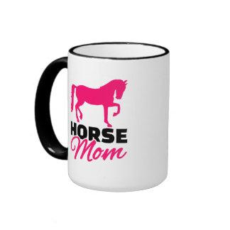 Horse mom ringer mug