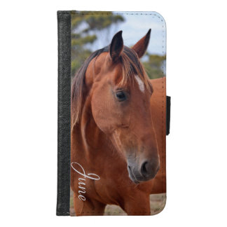 Horse Monogram Samsung Galaxy S6 Wallet Case