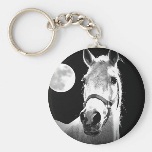 Horse & Moon Keychain
