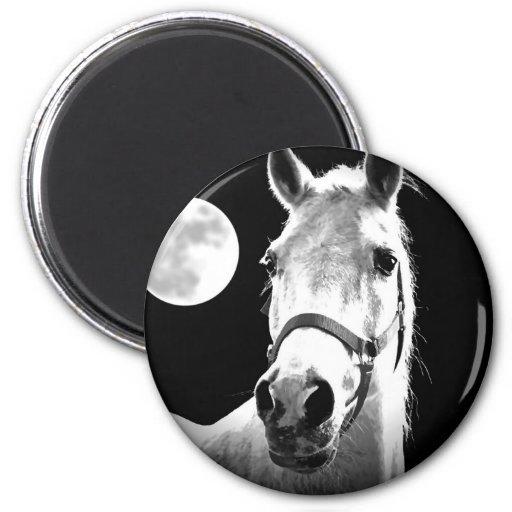Horse & Moon Magnet