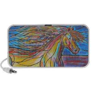 HORSE Mosaic/Stained Glass style art painting! iPhone Speaker