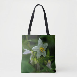Horse Nettle White Wildflower Floral Tote Bag