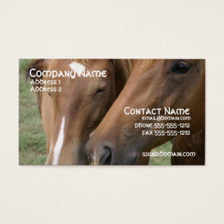 Horse Nuzzle Business Card