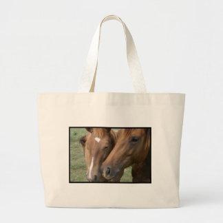 Horse Nuzzle Canvas Tote Bag