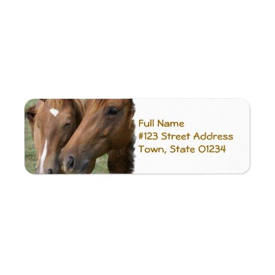 Horse Nuzzle Mailing Label