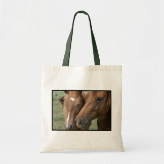 Horse Nuzzle Small Canvas Bag