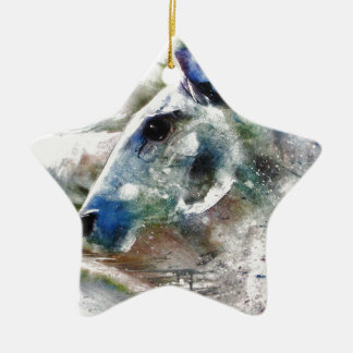 Horse of Color animal art Christmas Ornament