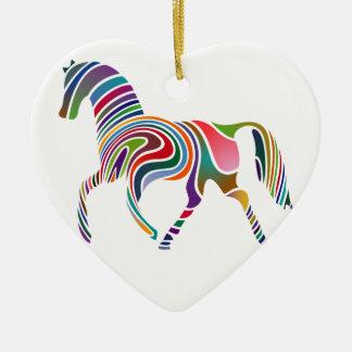 Horse of rainbow christmas ornament