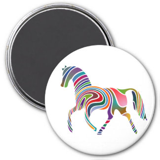 Horse of rainbow color