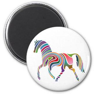 Horse of rainbow magnet