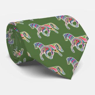 Horse of rainbow tie