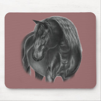 Horse Oil Painting Mouse Pad