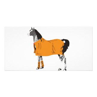 Horse on Holiday Customized Photo Card