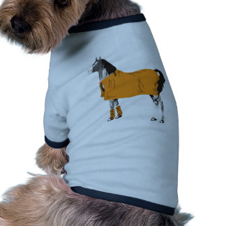 Horse on Holiday Ringer Dog Shirt
