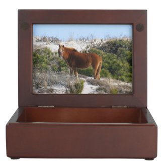 Horse On Mountain Keepsake Box