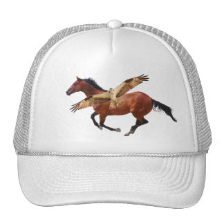 Horse & Osprey or Hawk Hat