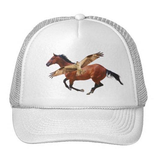 Horse & Osprey or Hawk Hat