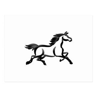 Horse Outline Postcard