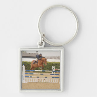 Horse Over Fence Keychain