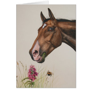 Horse Painted in Watercolour Greeting Card