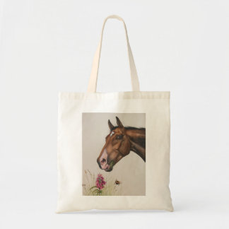 Horse Painted in Watercolour Tote Bag