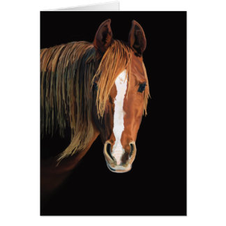 Horse painting card