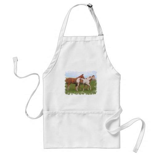 Horse Pair Apron