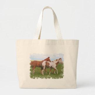 Horse Pair Canvas Bag
