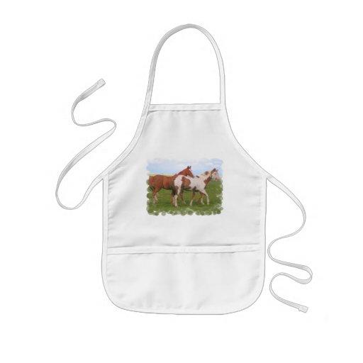 Horse Pair Children's Smock Kids Apron