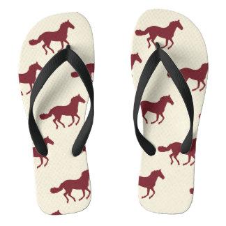 Horse Pattern Flip Flops