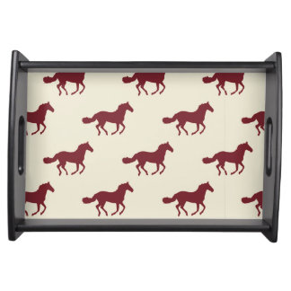Horse Pattern Serving Tray