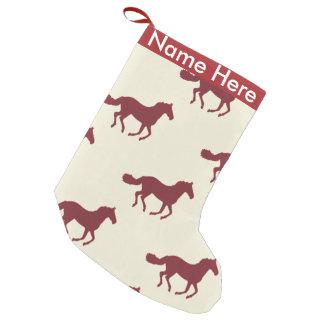 Horse Pattern Small Christmas Stocking