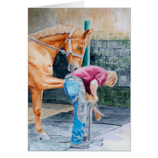Horse Pedicure Note Card