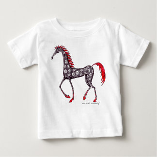 Horse pen ink drawing baby t-shirt design