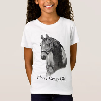 HORSE: PENCIL: HORSE-CRAZY: GIRL T-Shirt