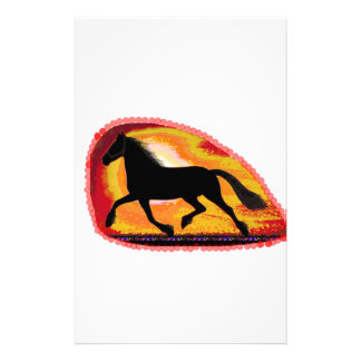 Horse Pet Animal  Add TXT IMG background color Stationery Paper