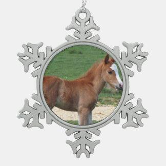 Horse Pewter Snowflake Decoration