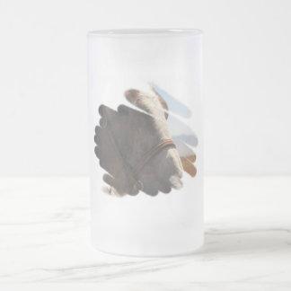 Horse Photo Closeup Frosted Glass Mug