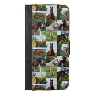 Horse Photo Collage, iPhone 6/6s Plus Phone Wallet