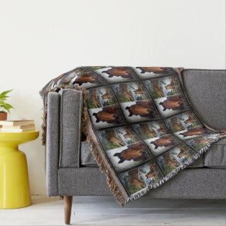 Horse,_Photo_Collage,_Throw_Blanket.