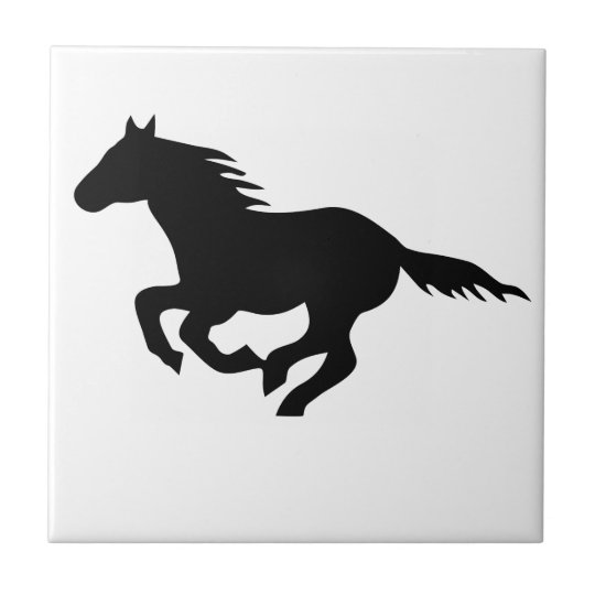 horse pony horse mustang riding ride small square tile