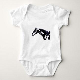 Horse Pop Art Baby Bodysuit
